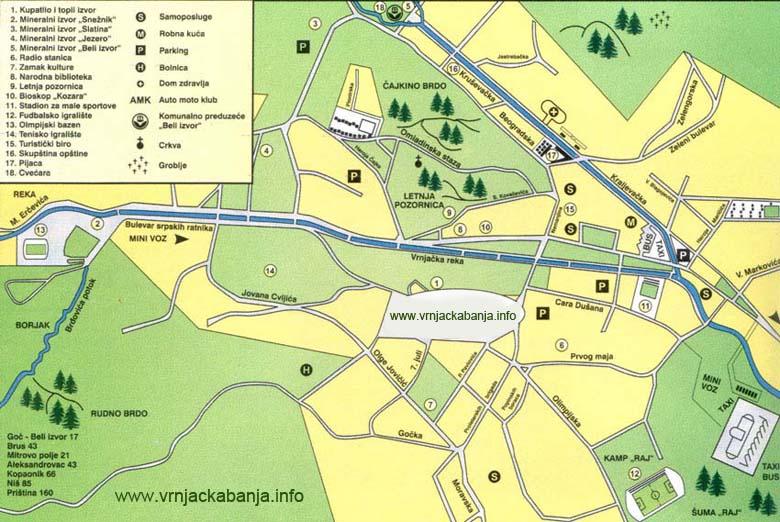 Vrnjacka Banja Map Vrnjacka Banja